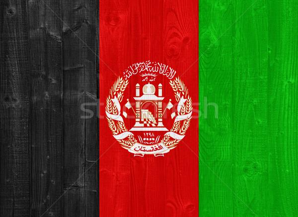 Afganistan bayrak boyalı ahşap Stok fotoğraf © luissantos84