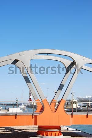 カラフル 橋 リスボン ポルトガル オレンジ 人 ストックフォト © luissantos84