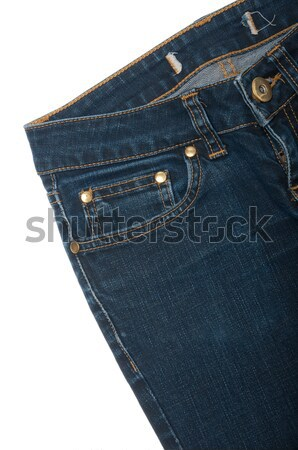Сток-фото: джинсов · изолированный · белый · моде · дизайна
