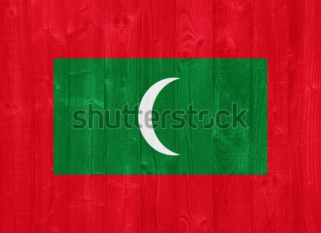 Maldives flag Stock photo © luissantos84