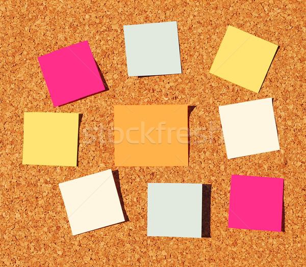 Herinnering merkt kleurrijk business teken groene Stockfoto © luissantos84