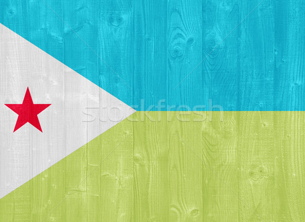 Djibouti flag Stock photo © luissantos84
