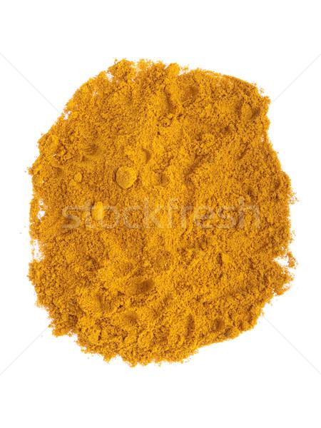 Strigliare Spice polvere isolato bianco alimentare Foto d'archivio © luissantos84