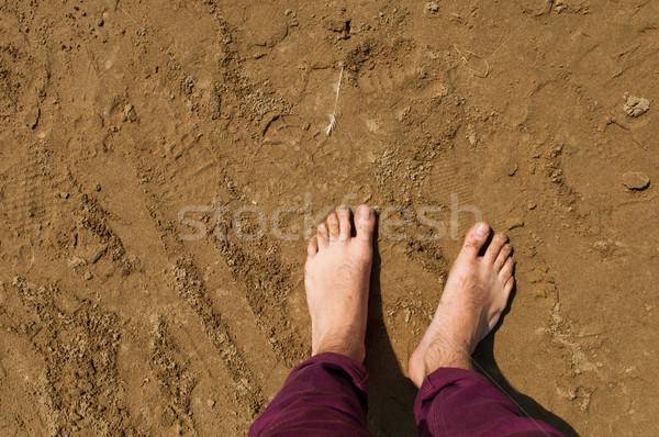 裸足 ビーチ 若い男 イギリス 男 太陽 ストックフォト © luissantos84