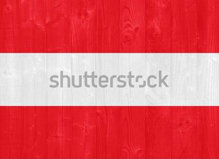 Oostenrijk vlag prachtig geschilderd hout plank Stockfoto © luissantos84
