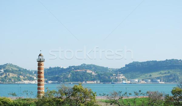 Lighthouse on river tagus Stock photo © luissantos84