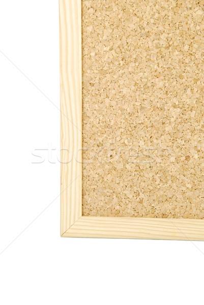 Pormenor placa de cortiça branco vazio isolado lugar Foto stock © luissantos84