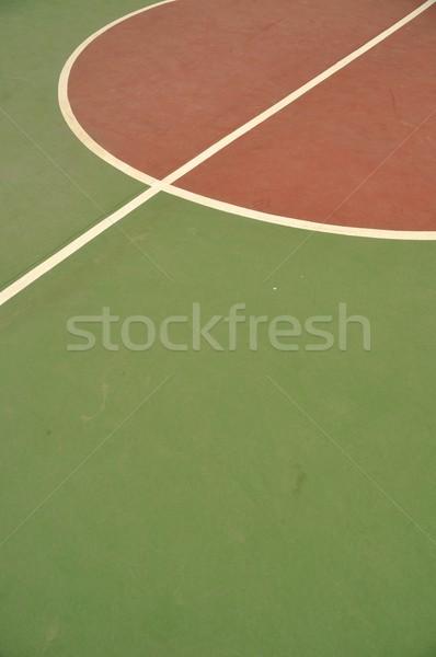 Basketbol sahası renkli basketbol hatları açık mahkeme Stok fotoğraf © luissantos84