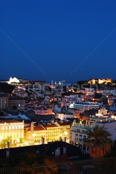 Beautiful nightscene in Lisbon, Portugal Stock photo © luissantos84