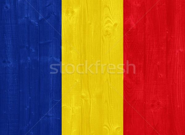 Romênia bandeira pintado madeira Foto stock © luissantos84