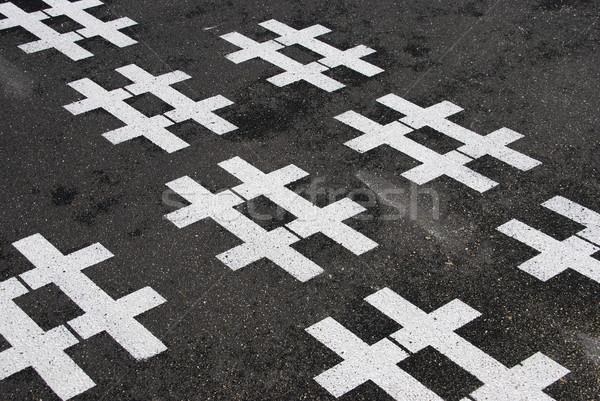 Asfalto bianco strada sfondo segno nero Foto d'archivio © luissantos84