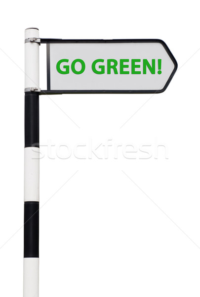 Go green sign Stock photo © luissantos84