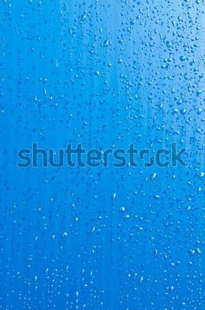 Gocce d'acqua vibrante blu superficie abstract natura Foto d'archivio © luissantos84