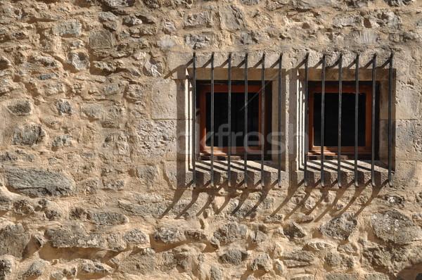 Finestra bar antica Windows medievale costruzione Foto d'archivio © luissantos84