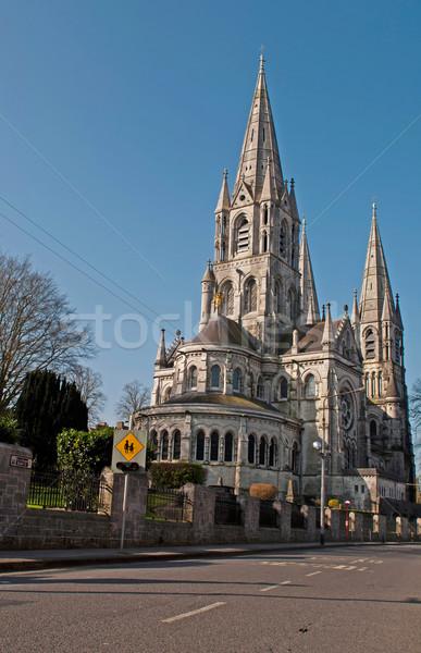 святой плавник собора пробка Ирландия дороги Сток-фото © luissantos84