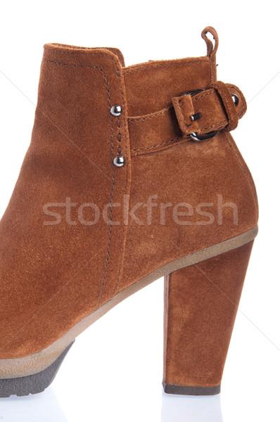 Boot donna primo piano isolato bianco Foto d'archivio © luissantos84
