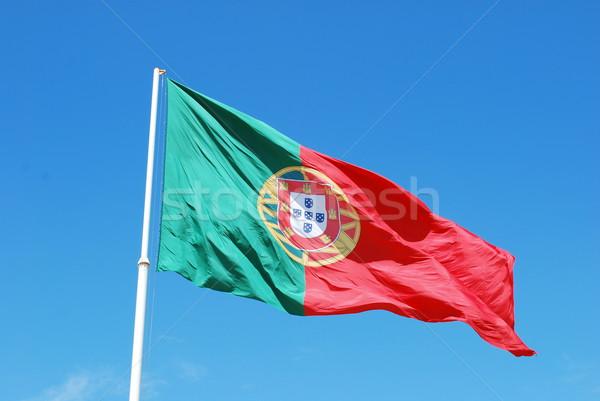 Bandiera Portogallo cielo blu sfondo verde blu Foto d'archivio © luissantos84