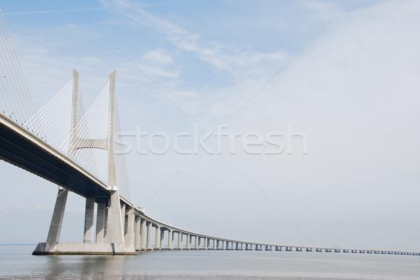 Vasco da Gama Bridge in Lisbon, Portugal Stock photo © luissantos84