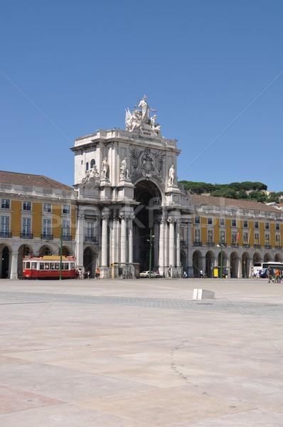 Commerce Square in Lisbon Stock photo © luissantos84