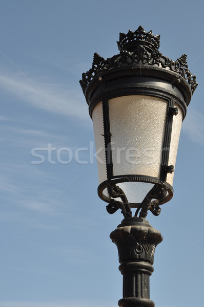 Post vintage lampada cielo blu cielo Foto d'archivio © luissantos84