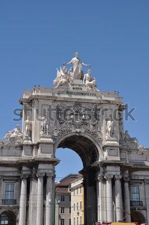 Stock photo: Commerce Square in Lisbon