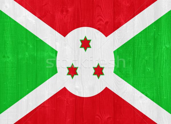 Boeroendi vlag prachtig geschilderd hout plank Stockfoto © luissantos84