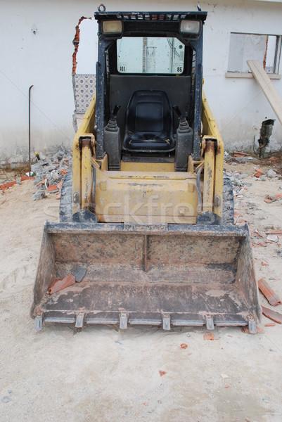 Geel rups werk bouwplaats Stockfoto © luissantos84