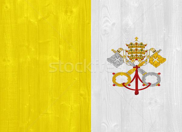Città del Vaticano bandiera magnifico verniciato legno Foto d'archivio © luissantos84