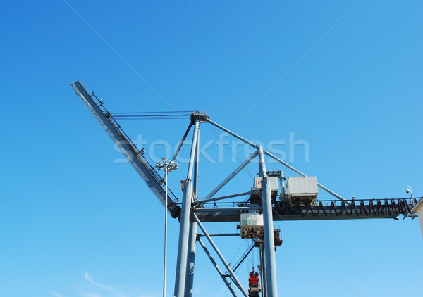 Heavy crane to move/load containers at Seaport Stock photo © luissantos84