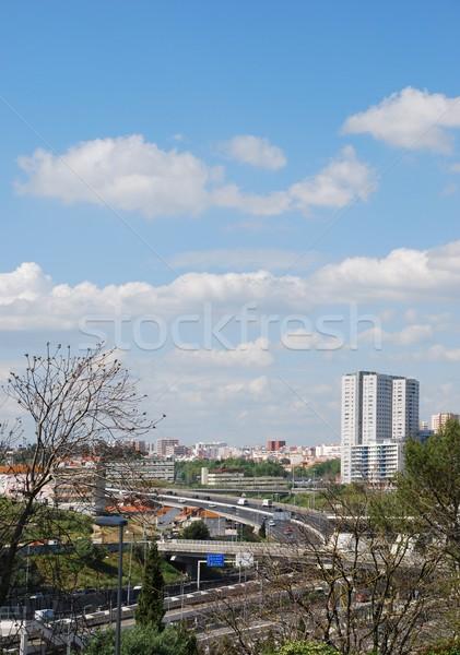 Autostrada Lisbona ingresso Portogallo bella Foto d'archivio © luissantos84
