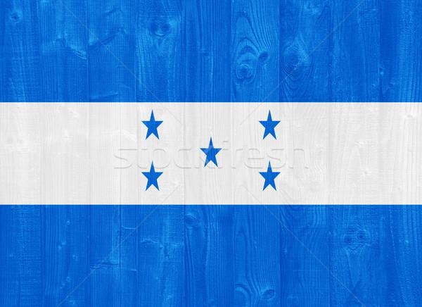 Гондурас флаг великолепный окрашенный древесины доска Сток-фото © luissantos84