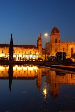 Hieronymites Monastery in Lisbon (sunset) Stock photo © luissantos84