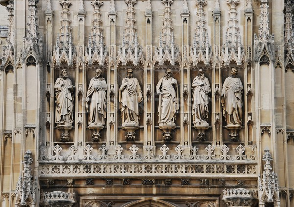 Entrance of Gloucester Cathedral (sculptures detail) Stock photo © luissantos84