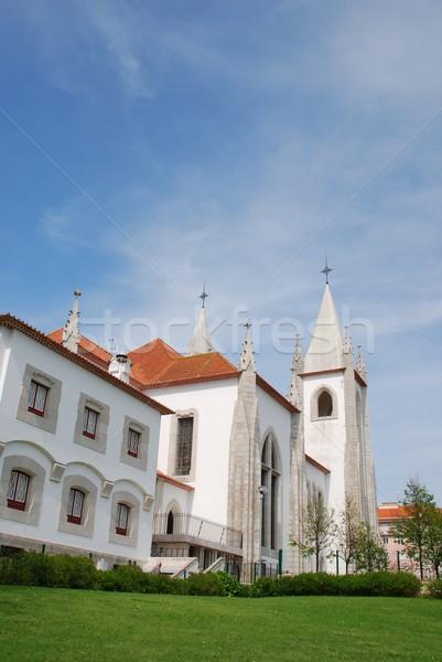 Церкви Лиссабон красивой Португалия небе дерево Сток-фото © luissantos84