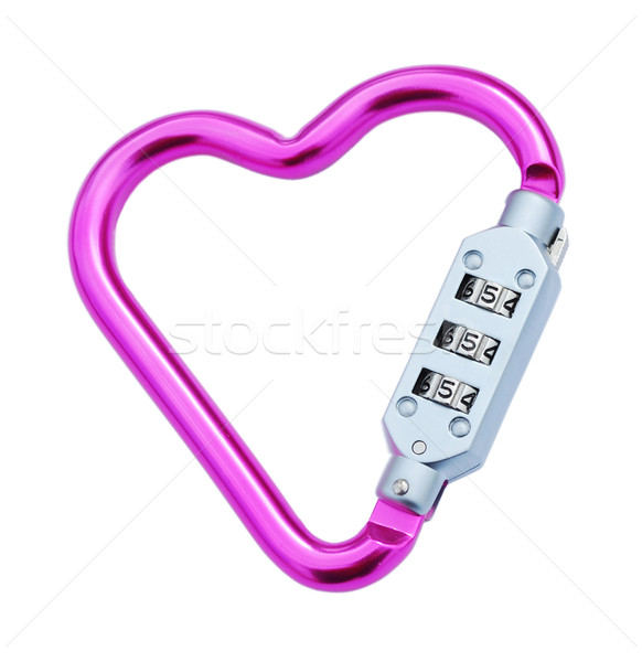 Heart shaped carabiner Stock photo © luissantos84