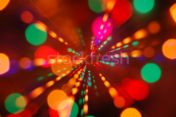 Christmas lights glowing (blur motion background) Stock photo © luissantos84