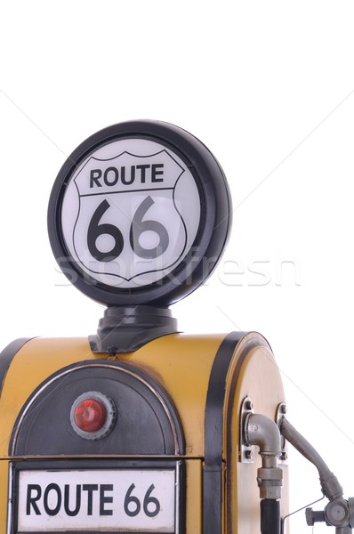 Antique copier jaune vintage route 66 Photo stock © luissantos84