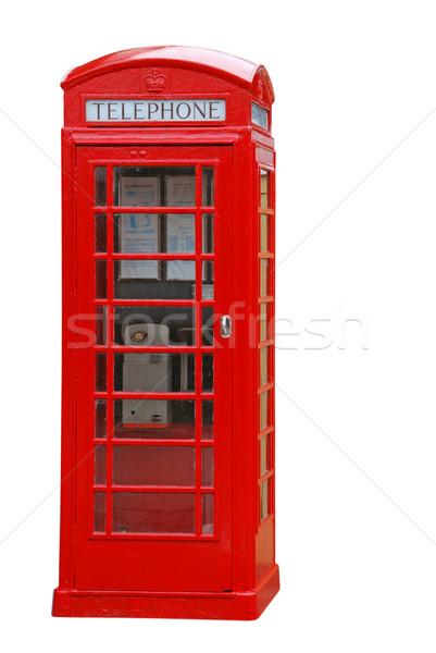 британский телефон стенд типичный красный изолированный Сток-фото © luissantos84