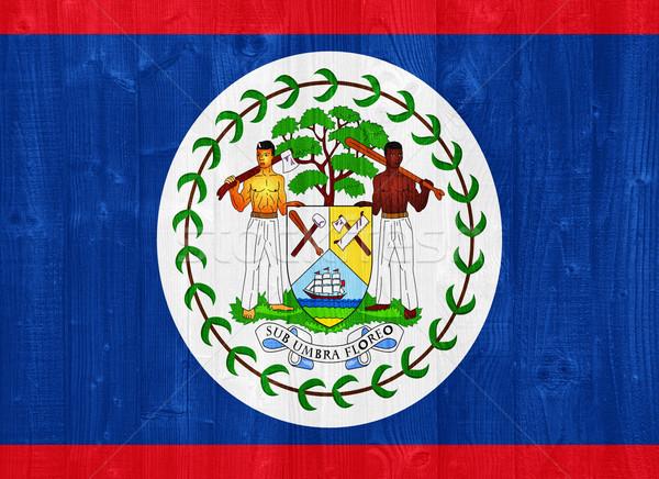 Belize zászló káprázatos festett fa palánk Stock fotó © luissantos84