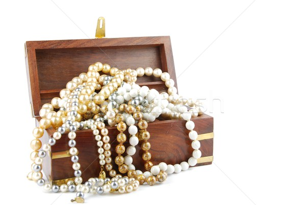 Jewel box on white Stock photo © luissantos84