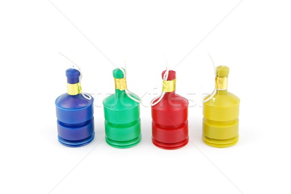 Party poppers on white Stock photo © luissantos84
