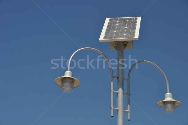 Solar powered lamp post Stock photo © luissantos84
