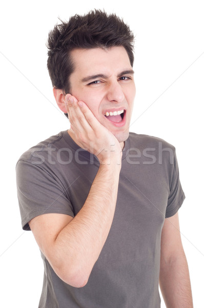 Man with toothache Stock photo © luissantos84