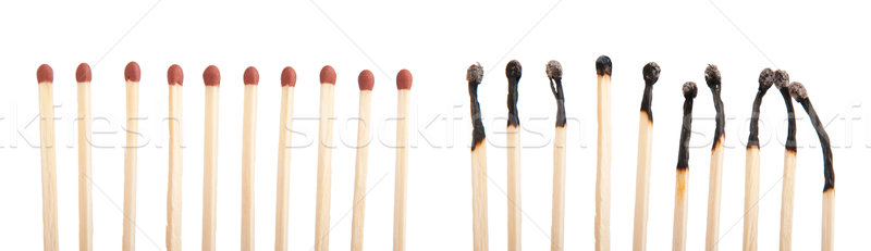 Matches and burnt matches Stock photo © luissantos84