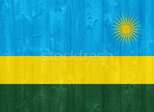 Ruanda bandeira pintado madeira Foto stock © luissantos84
