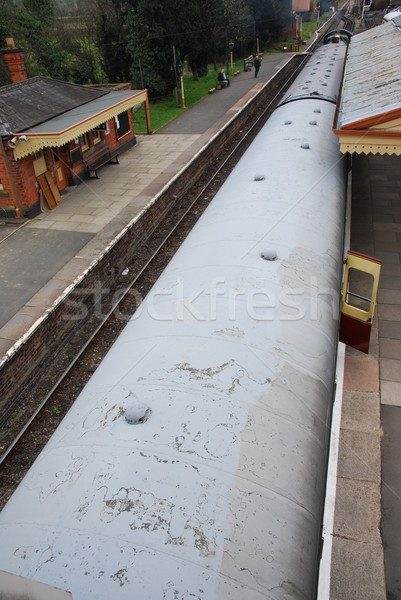 Сток-фото: антикварная · пар · поезд · красивой · старые · железная · дорога