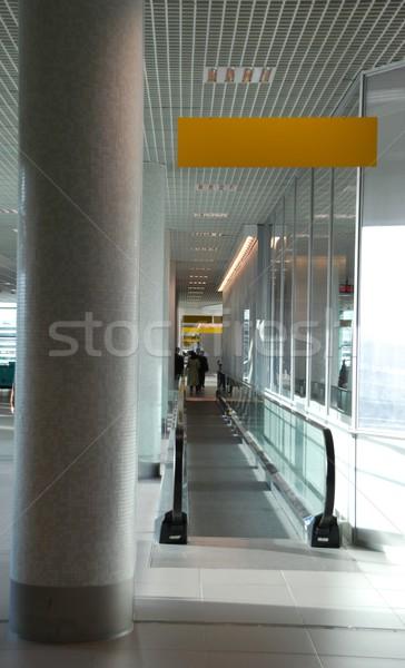 Modern yürüyen merdiven parlak giriş hareketli sarı Stok fotoğraf © luissantos84