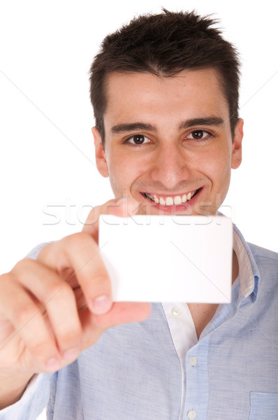 Man holding card Stock photo © luissantos84