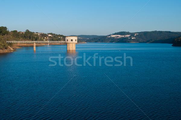 Castelo de Bode Dam Stock photo © luissantos84