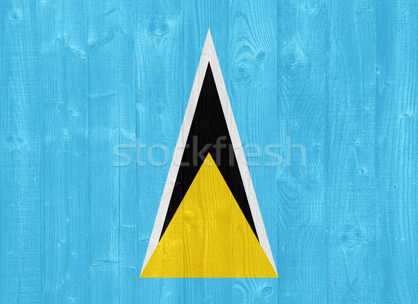 Saint Lucia flag Stock photo © luissantos84
